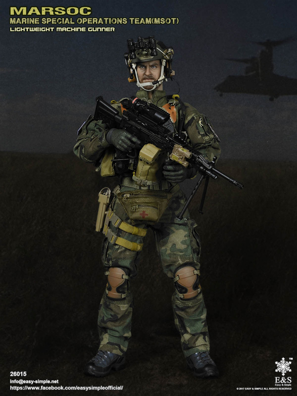 1//6 Scale Soldier Accessories ES 26015 Marsoc MSOT Machine Gunner Helmet