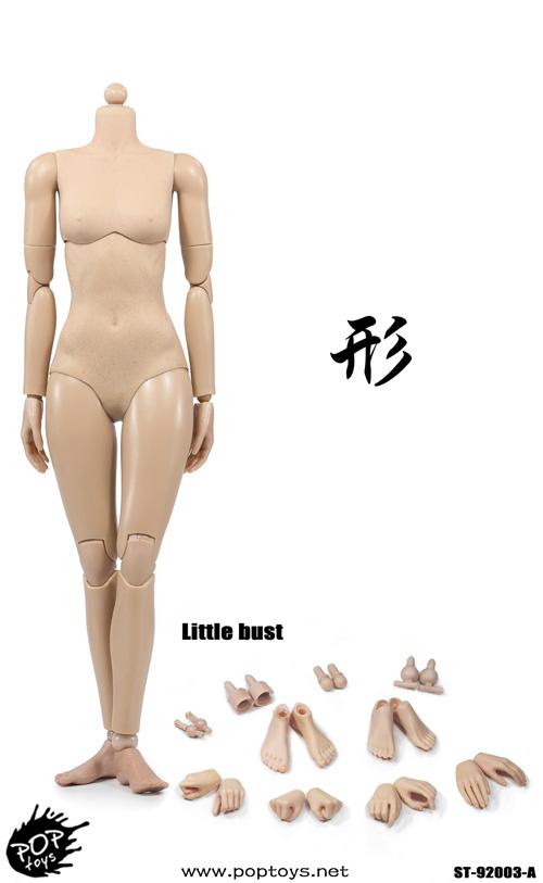 POPTOYS 92003 1//6 Super Flexible Female Body SUN TAN A Little Bust Modified Ver